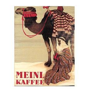 VINTAGE VICTORIAN HAMBURG GERMAN JAVA COFFEE TRADE CARD  FINE ART PRINT POSTER