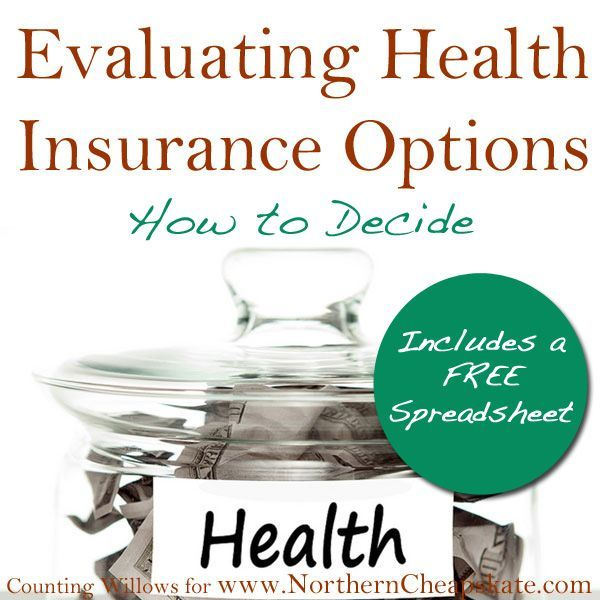 Evaluating Health Insurance Options How to Decide (Includes a Free - spreadsheet compare