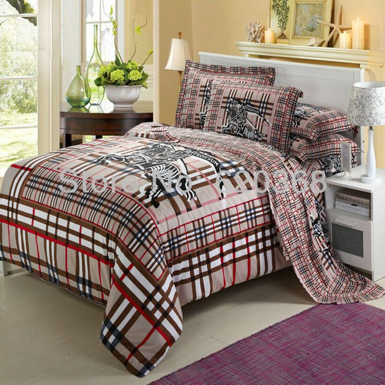 International Famous Brand Logo Printed Bedding Set,bed Comforter Set Queen  Size,bed Sheet