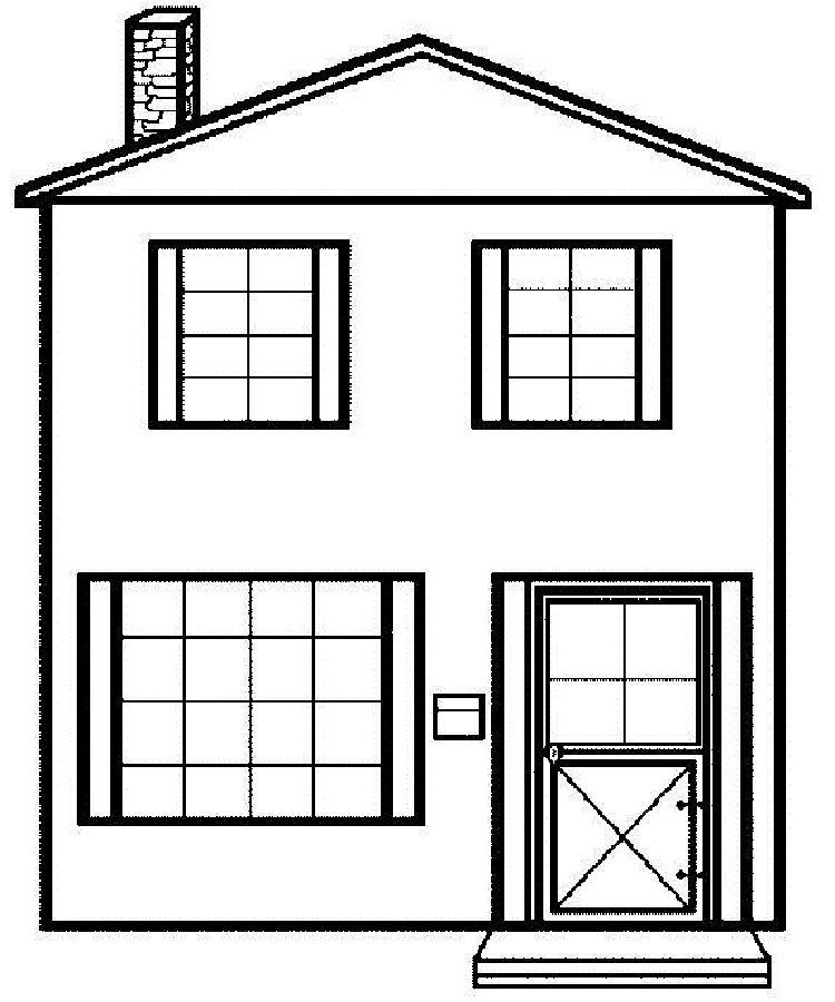 Two Story House Coloring Pages Plansdemaisonrectangulaire House