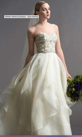 Used Watters Daniela Gown Style 6072B Wedding Dress 800 USD Buy It PreOwned Now And