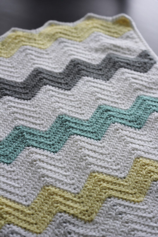 Famoso Patrón De Crochet Doble Chevron Bandera - Ideas de Patrones ...
