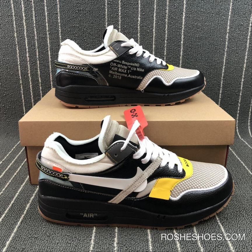 68a073d078f2e Off-White X Nike Air Max 1 Custom Black By Bespokeind Discount in ...