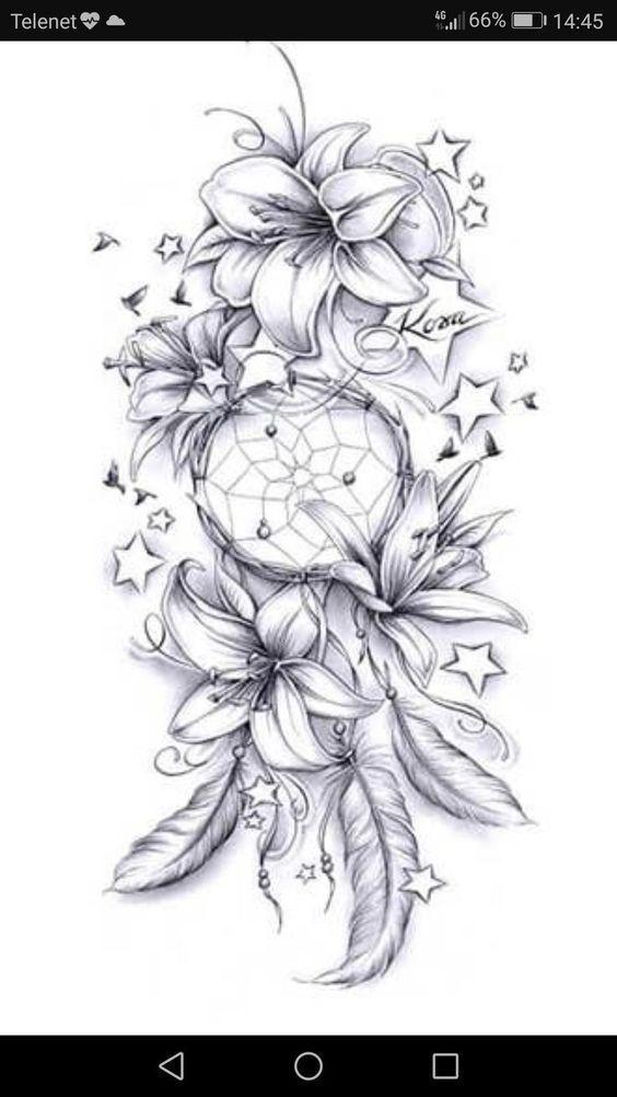 Keine Sterne und vielleicht diff Blumen, aber die Richtung ist süß #tattoos #flowertattoos #flowertattoos – diy tattoo images