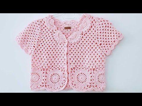 Tig Isi Motifli Bolero Yapimi Youtube Crochet Bolero Pattern Crochet Bolero Crochet