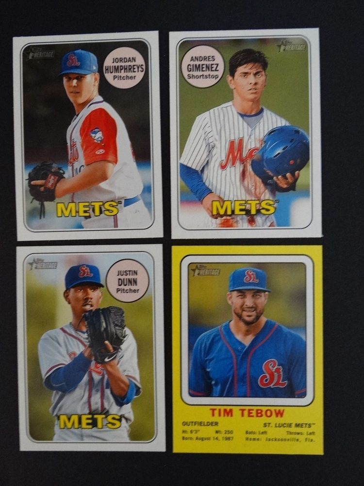 2018 Topps Heritage Minor League St Lucie Mets Team Set 4 Baseball