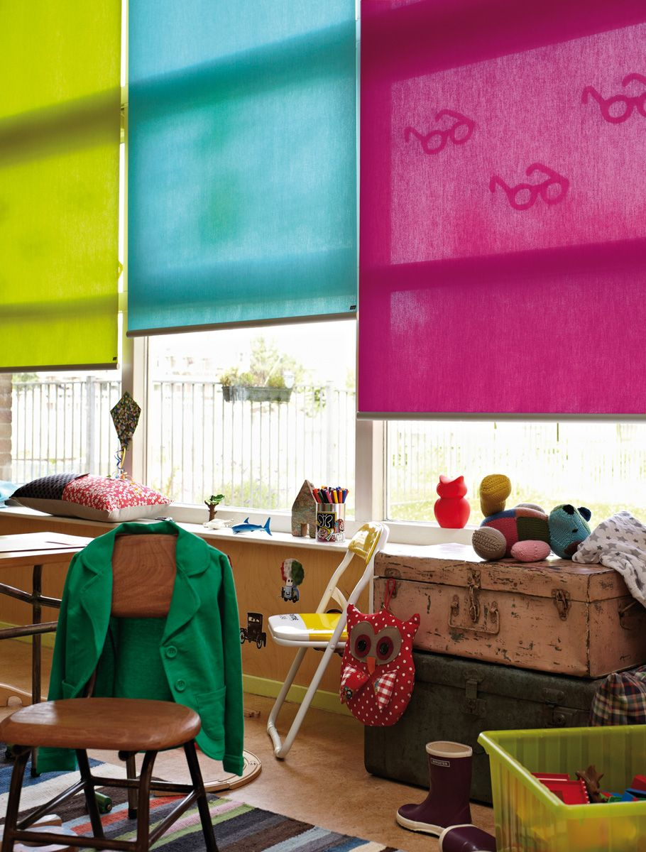 Bright Fun And Functional Roller Blinds Look Great At This Large Bedroom Window Luxaflex