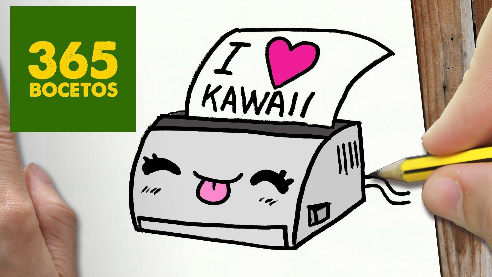 Como Dibujar Impresora Kawaii Paso A Paso Dibujos Kawaii Faciles