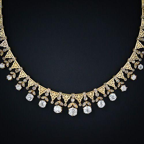 Ravishing Antique Diamond Necklace