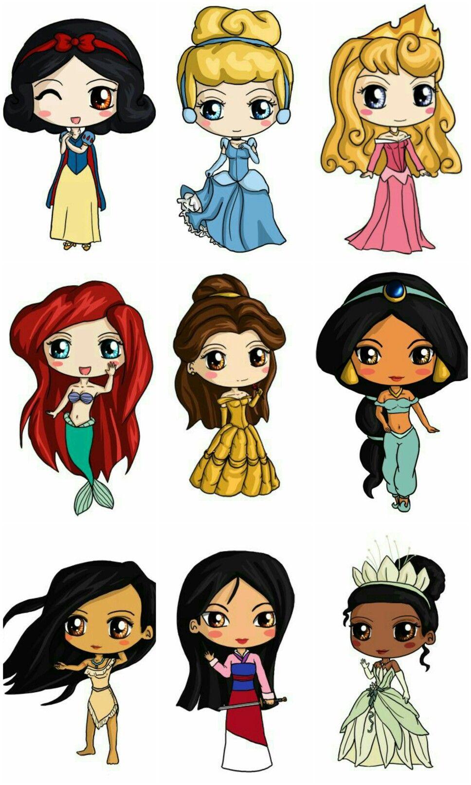 Pin De Geruza Alves Em Princesas Disney Desenhos Kawaii