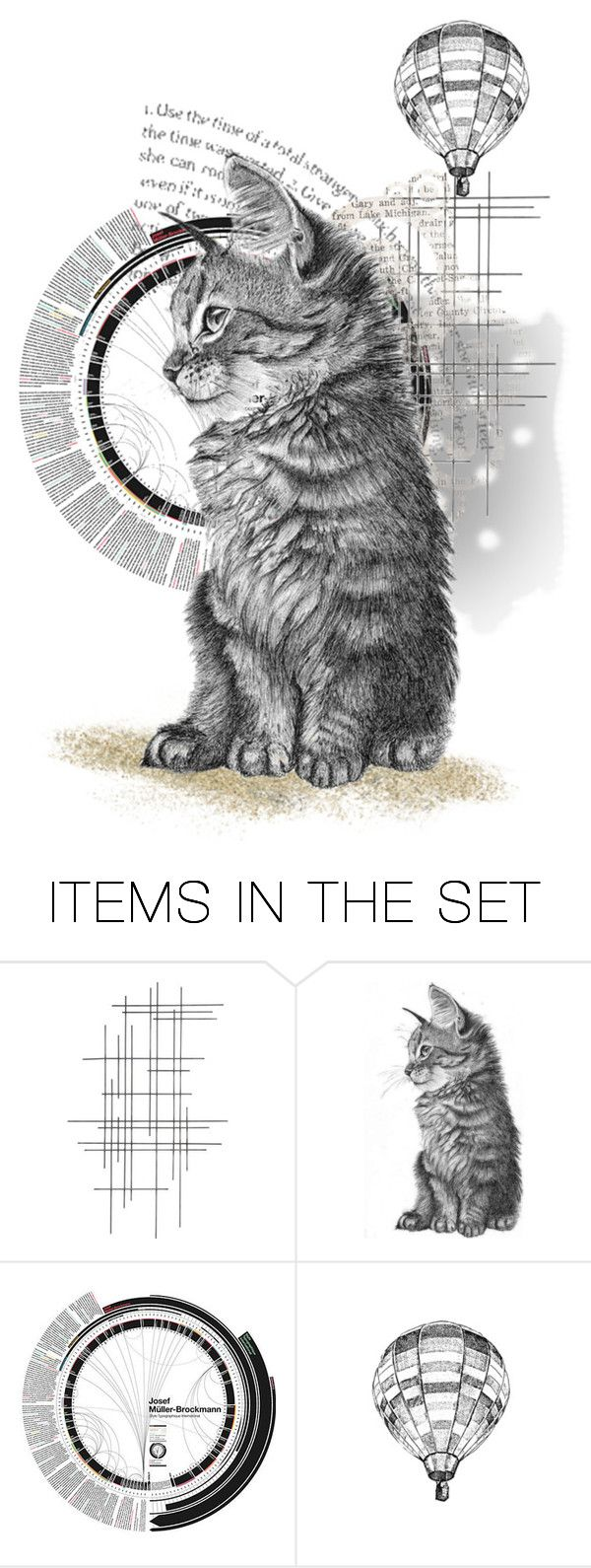 """cat"" by nico-de-angelo ❤ liked on Polyvore featuring art and nicosartsets"