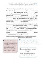 English Worksheets: Pre intermediate practice for young ...