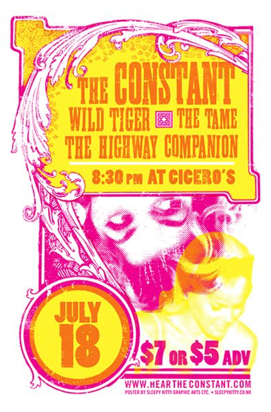 GigPosters.com - Constant, The - Wild Tiger - Tame, The - Highway Companion, The