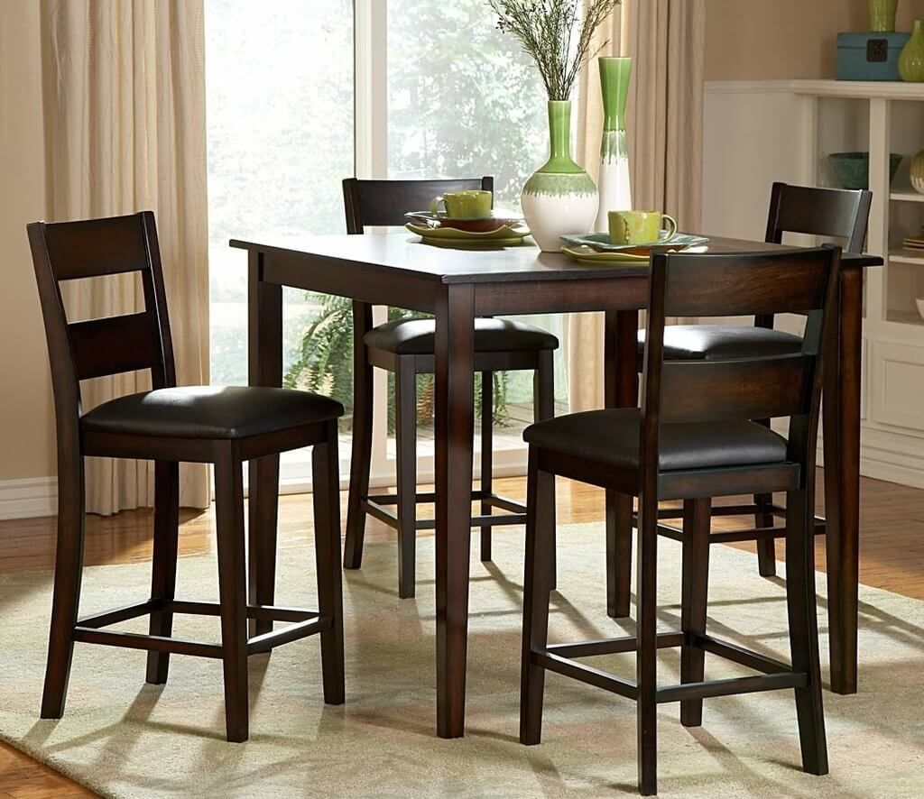 Kitchen:Square Tall Kitchen Table With Seating For 9 And