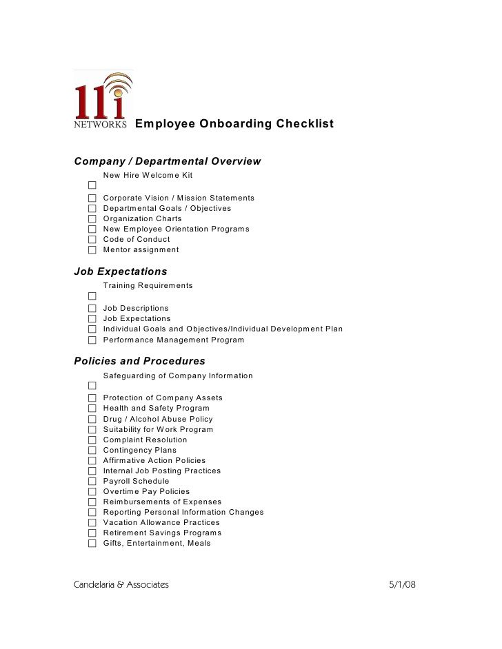 orientation schedule for new employees