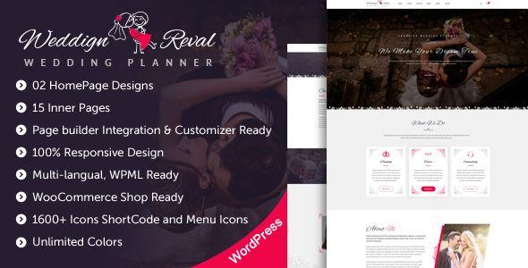 Wedding Reval – Wedding Planner & Agency WordPress Theme nulled ...