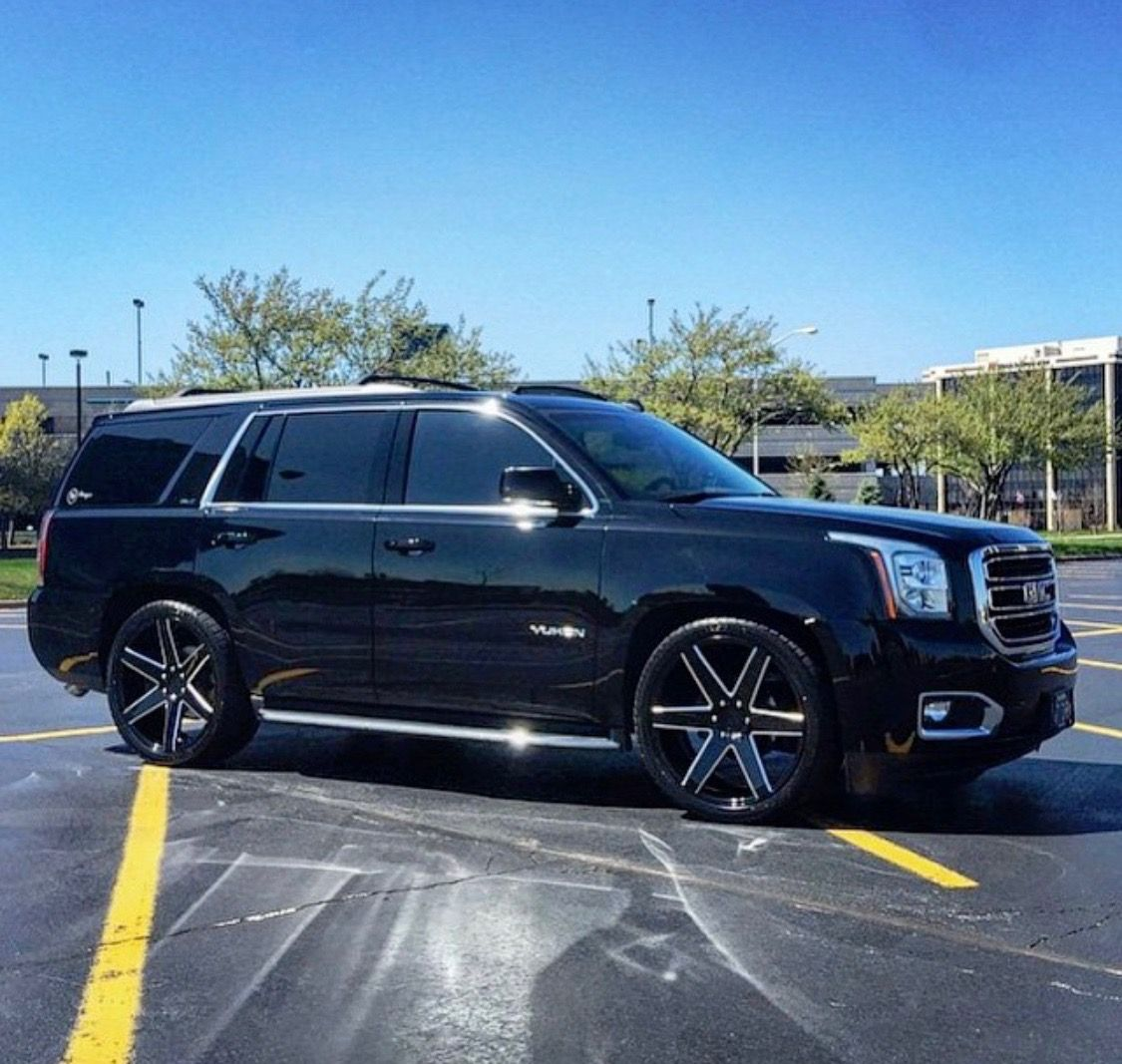 Yukon Denali Black On Black 6 Spoke 24 S Custom Wheels Yukon