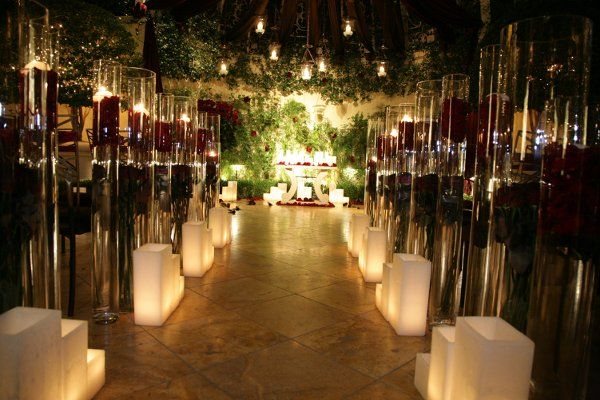outdoor wedding ceremony at dusk Home Weddings Events Gallery