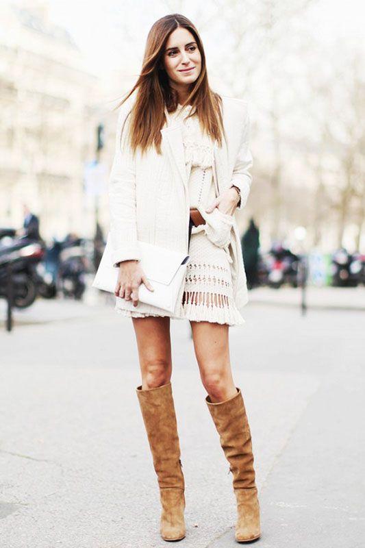 冬日潮流街拍:針織連衣裙的穿搭靈感!