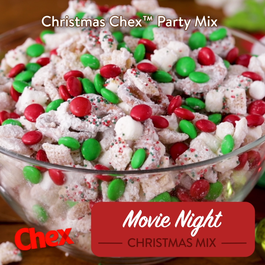 Christmas Chex Mix.Christmas Chex Party Mix
