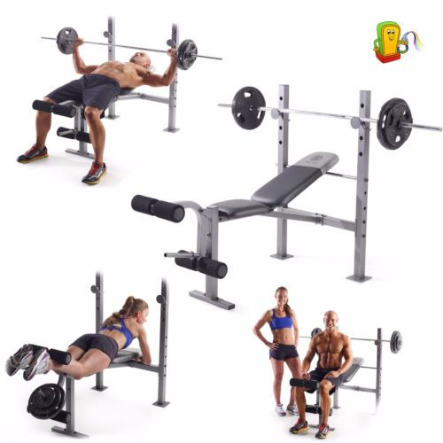 Gold 39 S Gym Weight Bench Press Body Lifting Adjustable Workout Fitness Equipment Ad Building