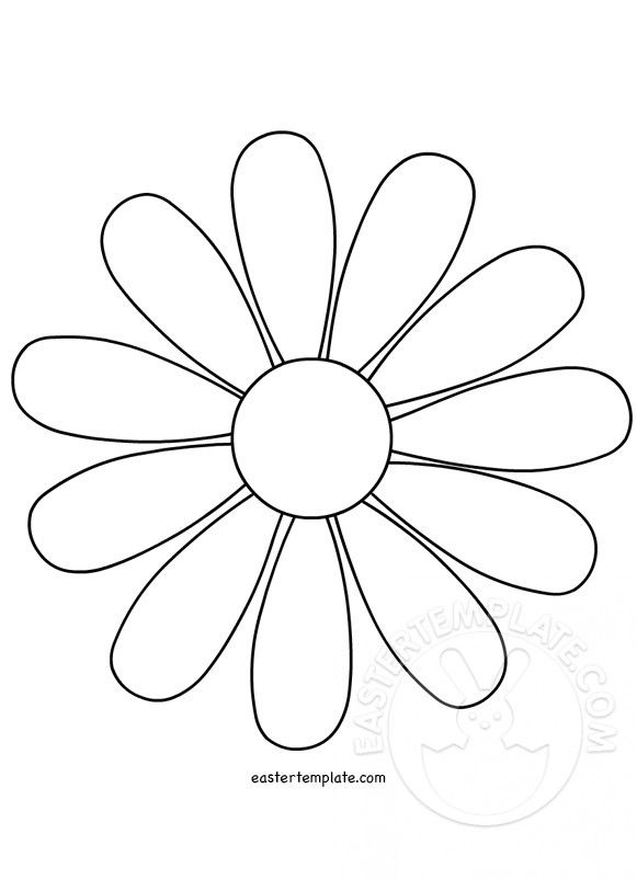 flower outline template Daisy Flower Template - Easter Template - book outline template