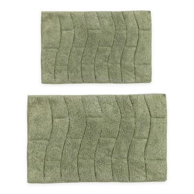 Castle Hill New Tile 2 Piece 21 X 34 And 24 X 40 Bath Mat Set