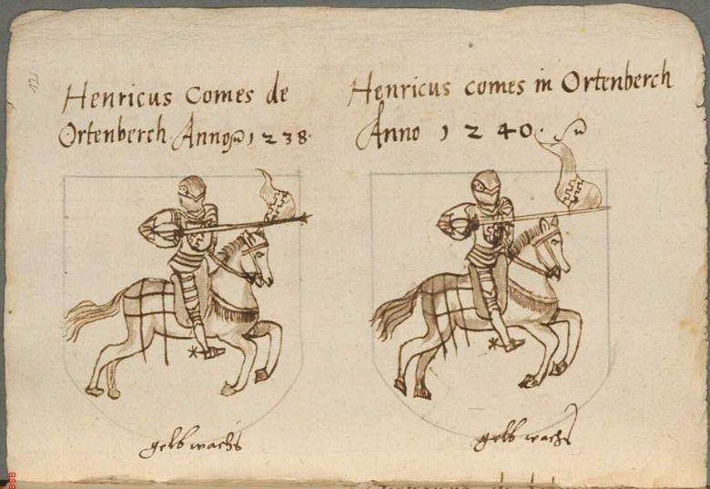 Ortenburger Wappenbuch Bayern, 1466 - 1473 Cod.icon. 308 u  Folio 12r