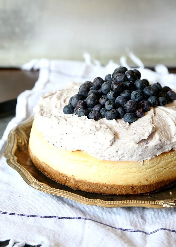 Blueberry Mousse Cheesecake Recipe @ http://cookiesandcups.com/blueberry-mousse-cheesecake/