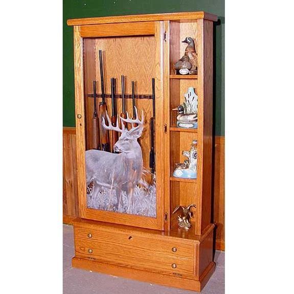 Scout 1358 Gun Cabinet Solid Oak 8 Gunsafes