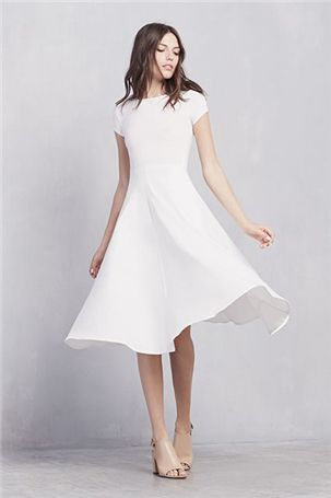 white party dress fashion style