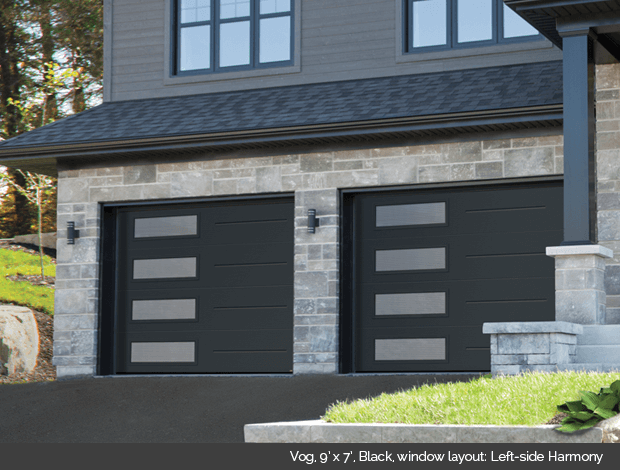 Garaga Garage Door Vog 9 X 7 Black Window Layout Left Side