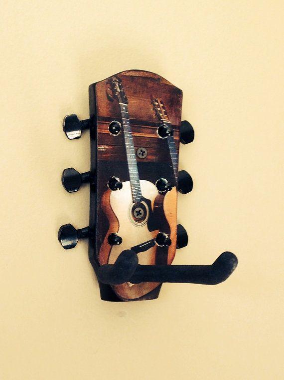 Guitar storage & display wall hook made from repurposed guitar ...