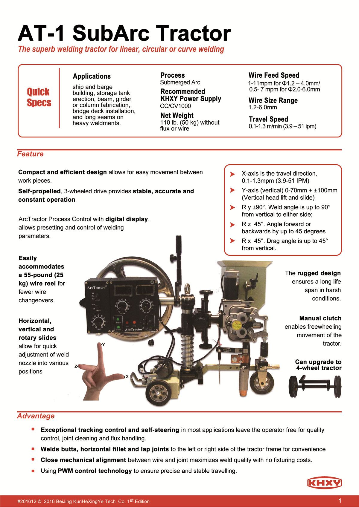 Submerged Arc Welding Tractor Saw Process Diagram