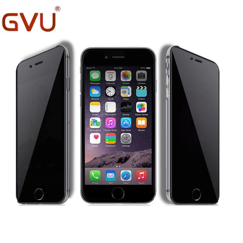 9 h 0.3mm anti spy qualità vetro temperato protezione dello schermo per iphone 4 4 s 5 s 5c 6 6 Plus Anti-shatter Protezione della Privacy Pellicola