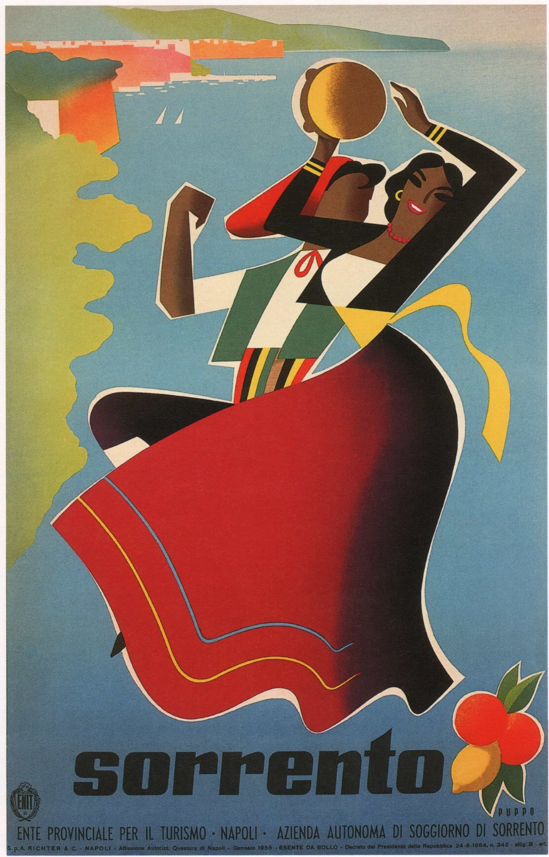 Sorrento Vintage Travel Poster, 1955 | Sorrento, Vintage travel and ...