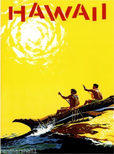 Hawaii-Outrigger-Hawaiian-Vintage-United-States-Travel-Advertisement-Art-Poster