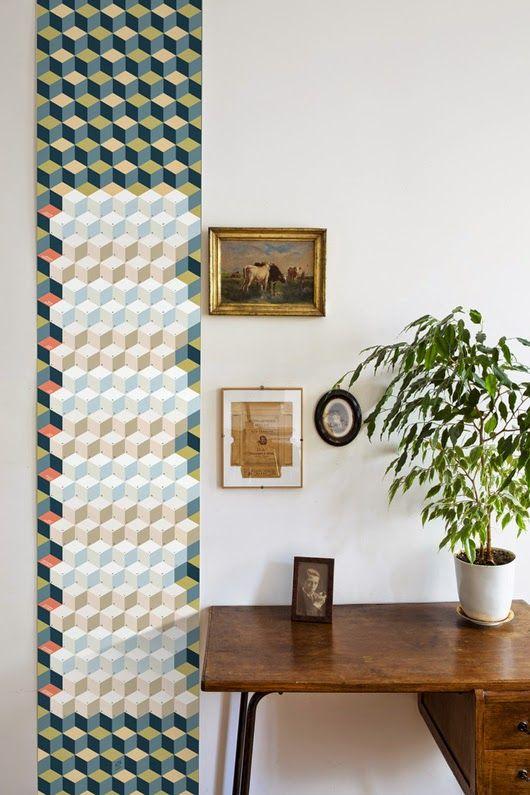Inspiration Deco Bureau Vintage Laie De Papier Peint Geometrique
