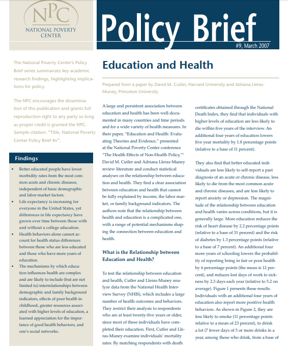Policy Briefing Memo Example