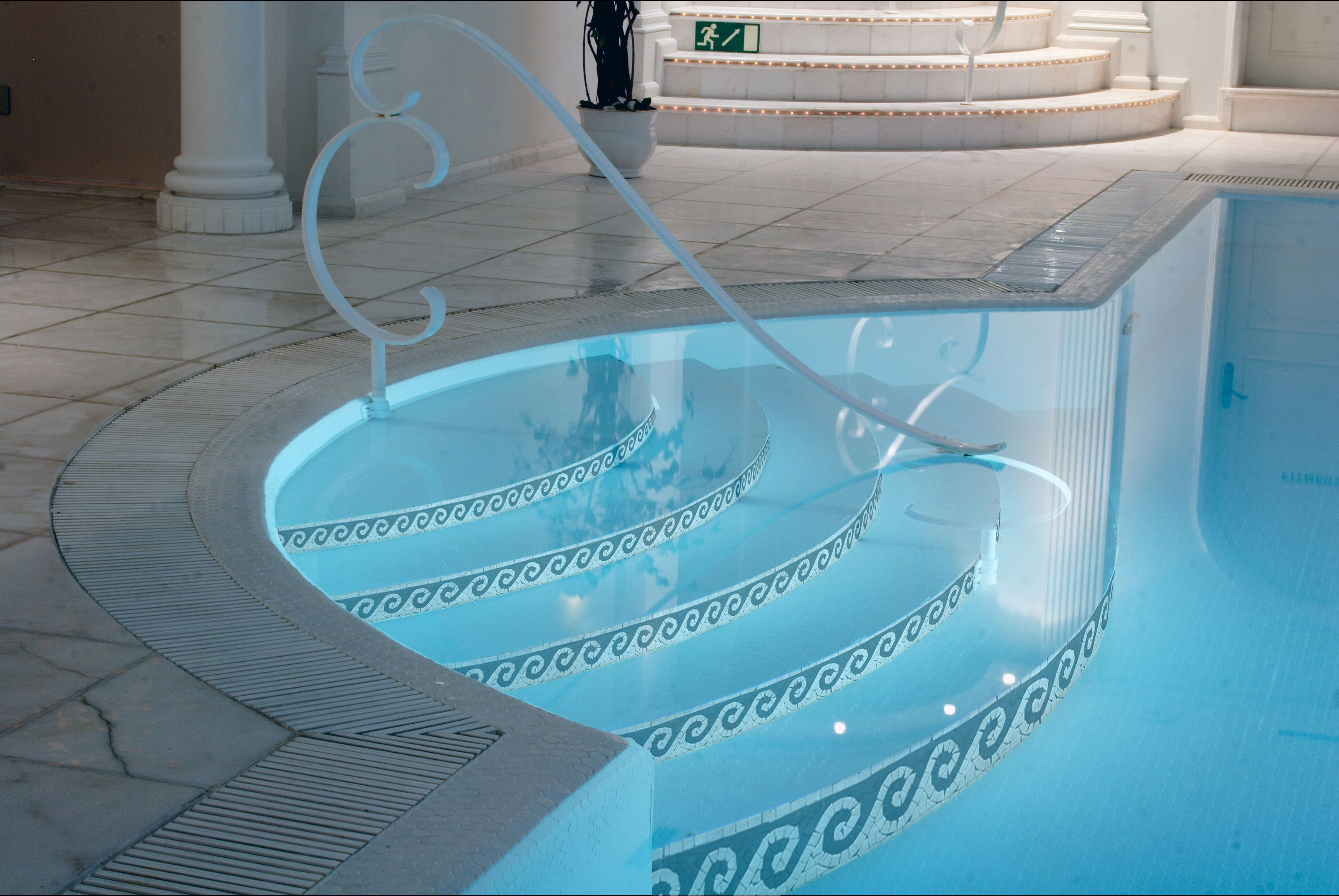 Waves Marble Mosaic Border Cool Pool Ideas Pool