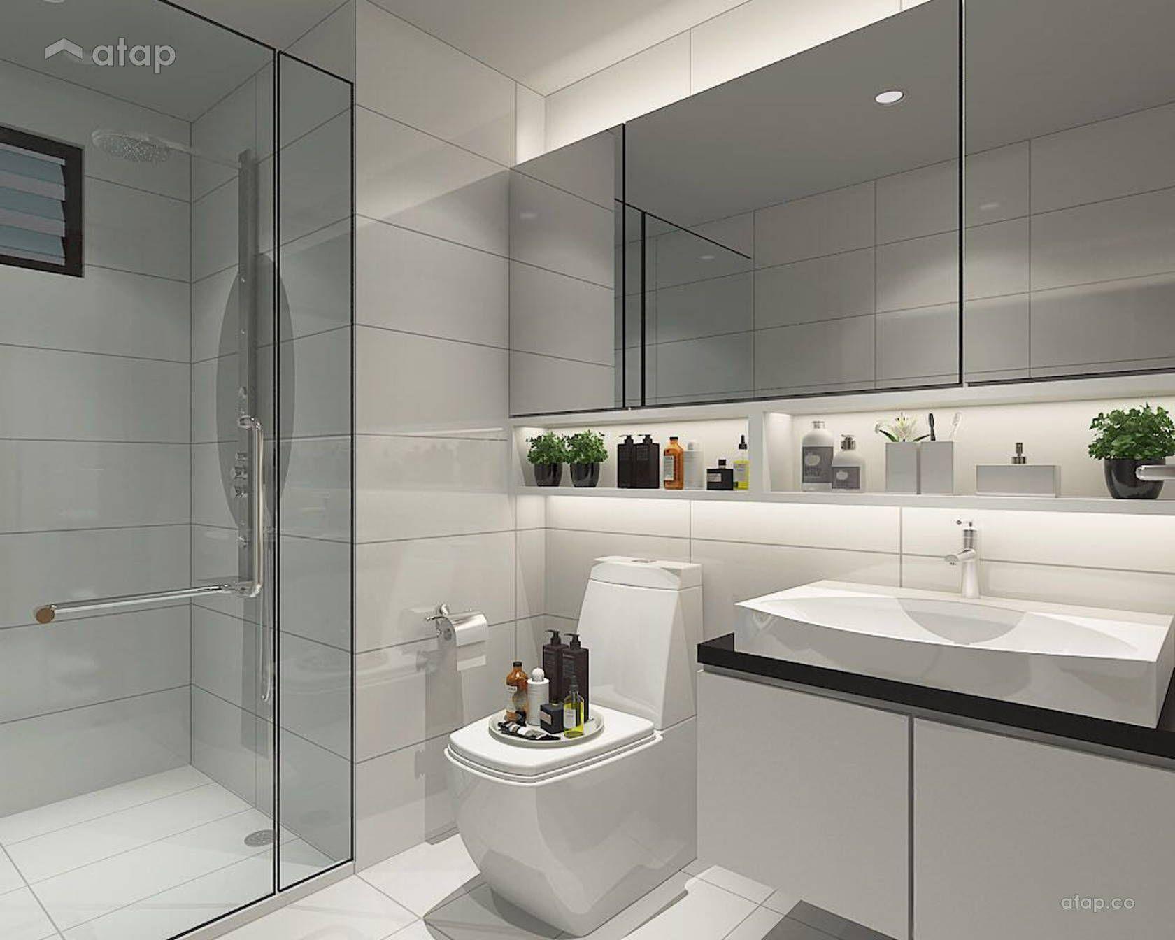 Minimalistic Bathroom Condominium Design Ideas Photos Malaysia