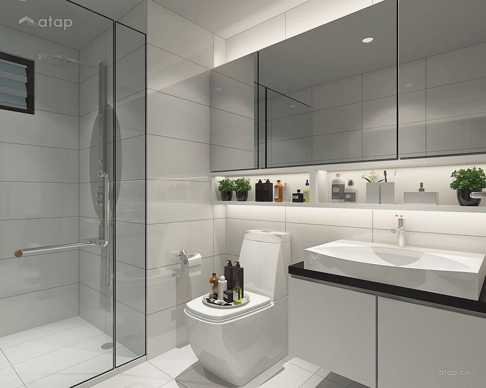 Minimalistic Bathroom Condominium Design Ideas Photos Malaysia Atap Co Bathroom Design Modern Bathroom Design Grey Bathroom Inspiration Modern