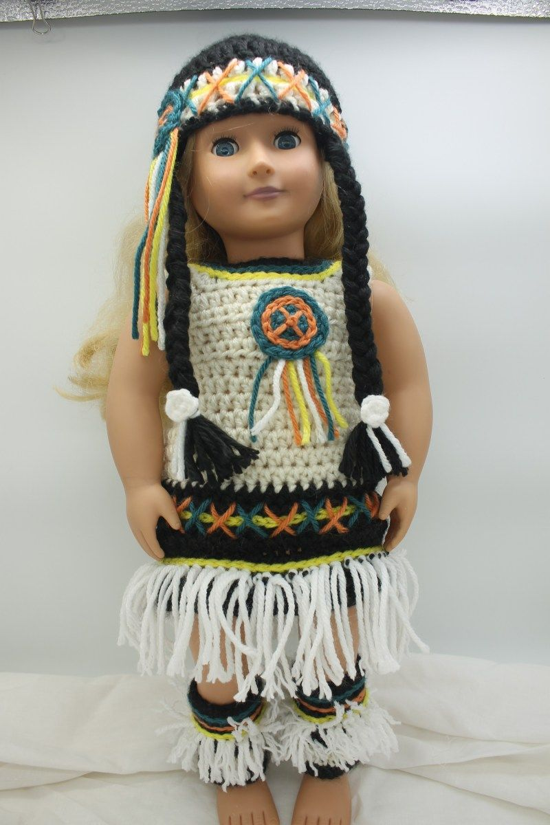 18″ Doll Clothes – Native American Costume #indianbeddoll