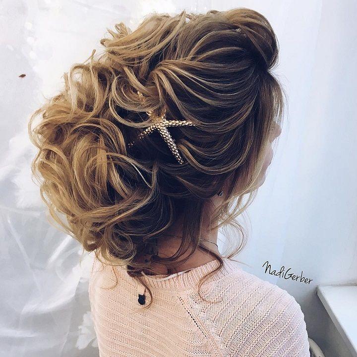 updo beach wedding hairstyle #weddingupdo #beachhairstyle #hairstyle #weddinghairstyles #updos