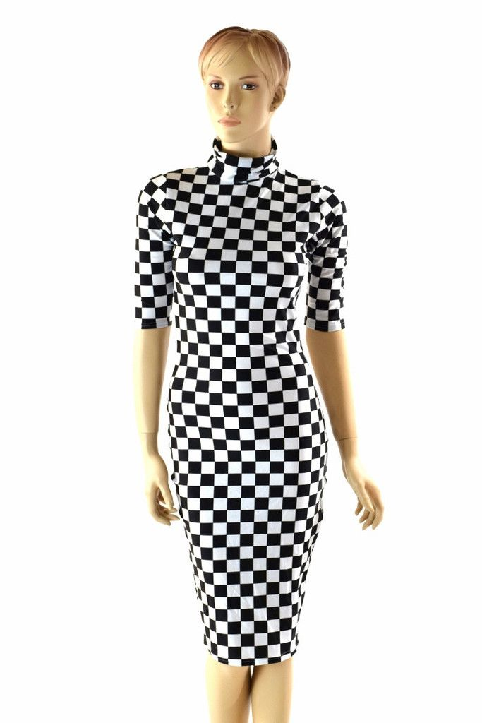 Black   White Checkered Bodycon Dress – Coquetry Clothing 2dd1fba52