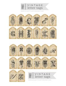 Free Printables: Antique Monogram Letters (LOTS of BEAUTIFUL Free Printables here!!!)