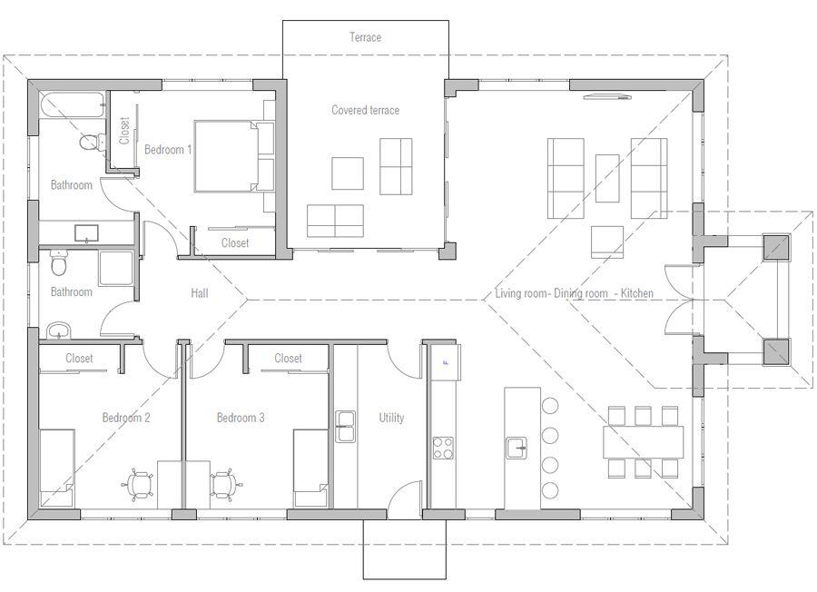 House Design House Plan Ch577 10 House Plans House Construction Plan Affordable House Plans