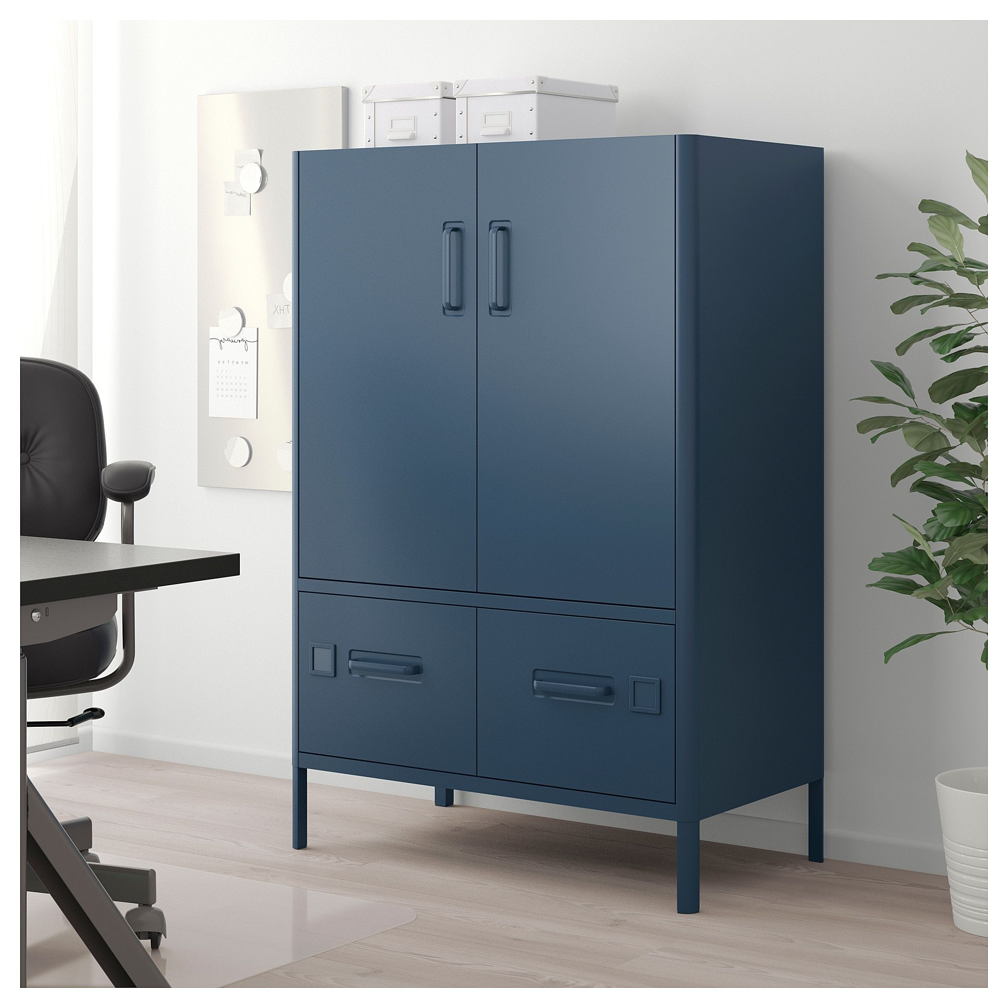 IDÅSEN with doors and drawers blue IKEA