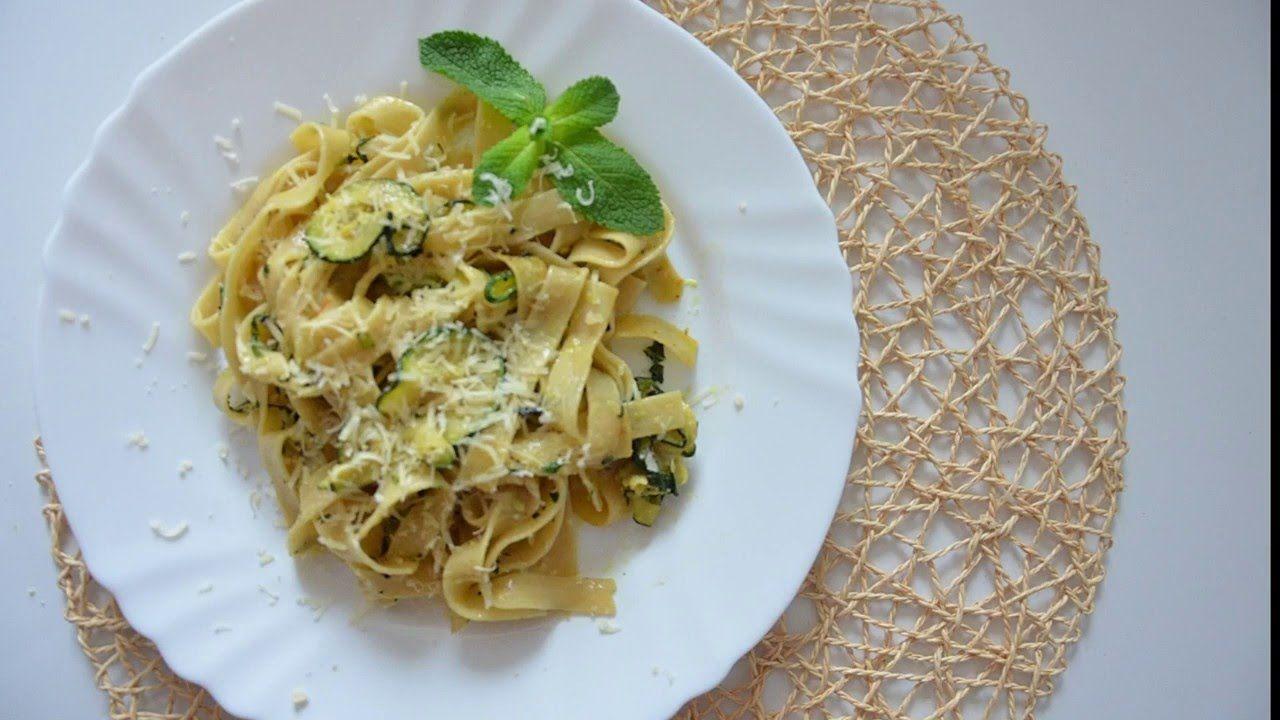 Паста Феттучини с кабачками и мятой • Вегетарианские ...
