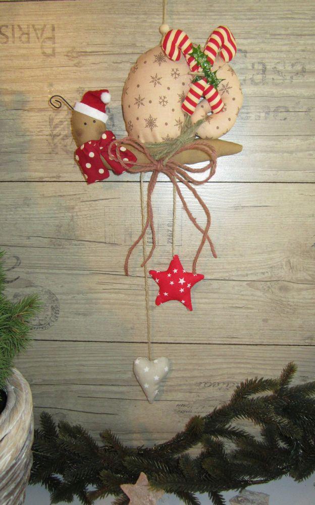 girlande schnecke weihnachten winter deko zuckerstange beige landhaus tilda herz tilda. Black Bedroom Furniture Sets. Home Design Ideas